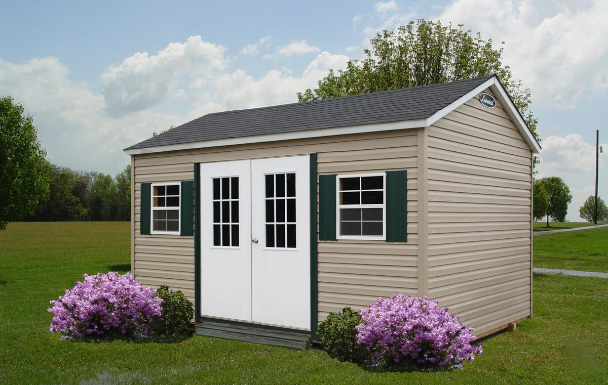 storage-shed-Vinyl-with-windows-and-shingled-roof